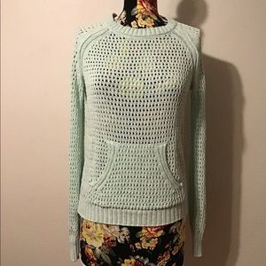 Sanctuary mint green see though knit sweater